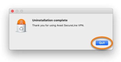 Click Quit-How To Uninstall Avast on Mac