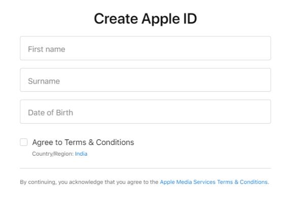 Create Apple ID and Apple TV Subscription