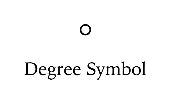 Degree Symbol on Keyboard.