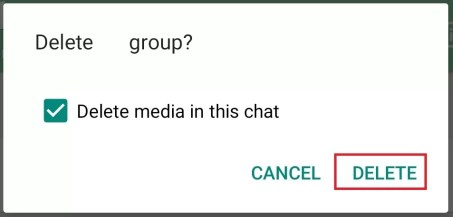 Delete Whats App Group
