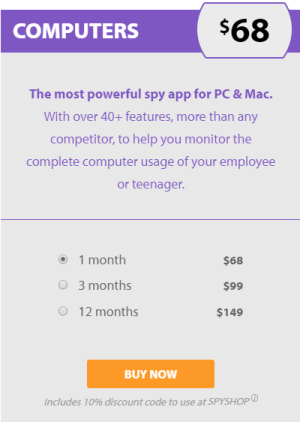 FlexiSPY for PC Pricing