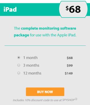 FlexiSPY iPad Pricing