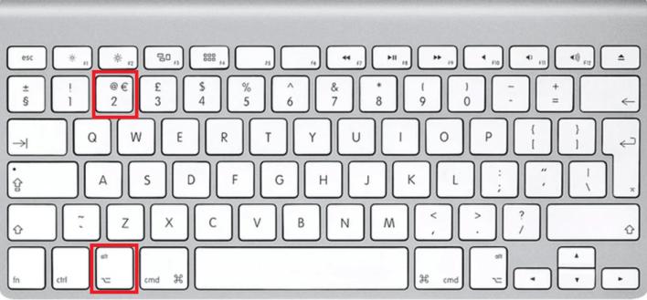 Add the Trademark symbol on Mac