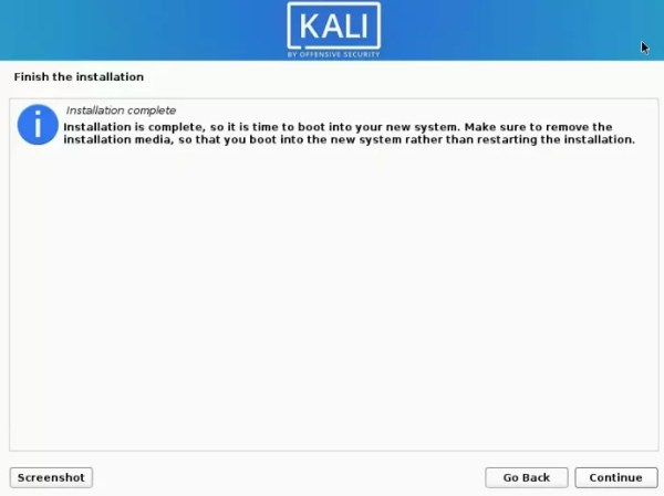 Kali Linux is Installed