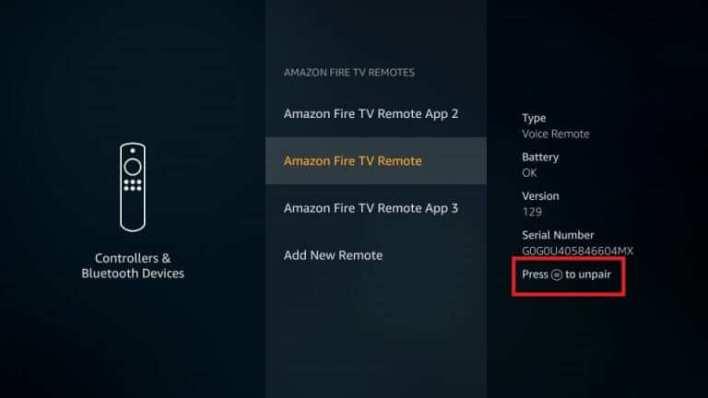 Select the Remote
