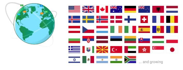 Server Countries
