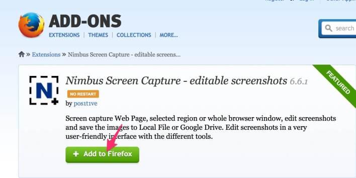 Third party app to take screenshot