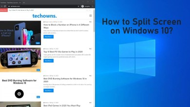 how to Split Screen on Windows 10