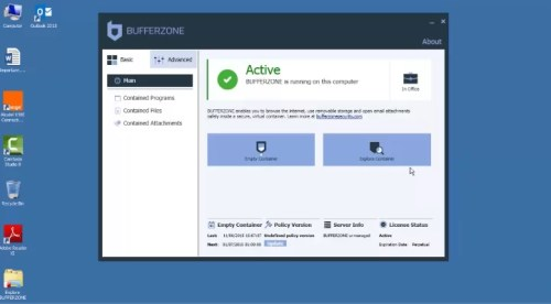 BufferZone-Sandboxie Alternative