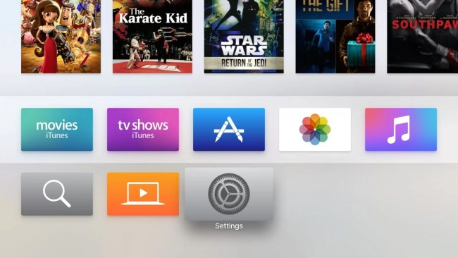 Open Apple TV Settings