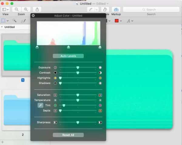 Drag the Slider of Tint-How to Change Folder Color on Mac