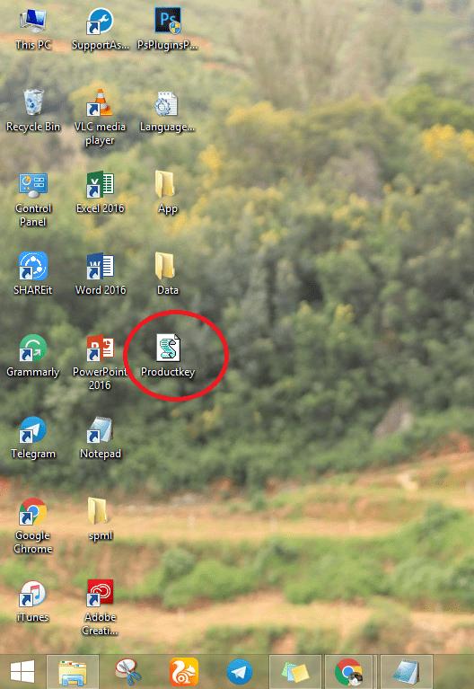 ProductKey file