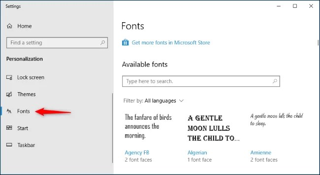 Install Fonts on Windows 10