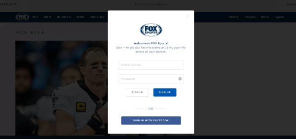 Provide Login details-Fox Sports App Chromecast