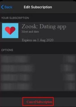 Cancel subscription - How to Cancel Zoosk Subscription