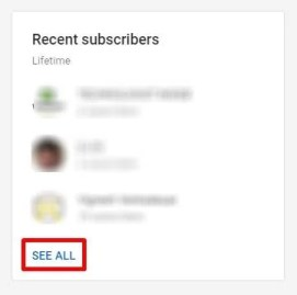 Recent subscribers - How To See Your Subscribers On YouTube