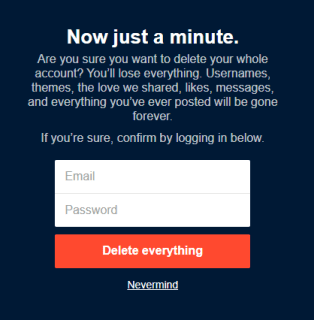 Confirm - How To Delete a Blog in Tumblr