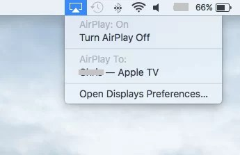 Select Apple TV on Mac-