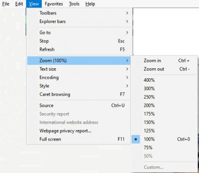 Select Zoom