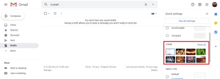 Change Background on Gmail