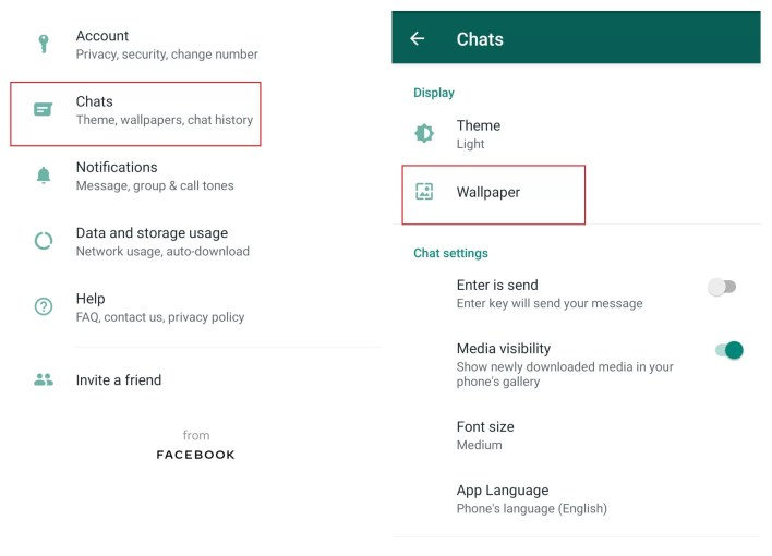 Change Background on WhatsApp