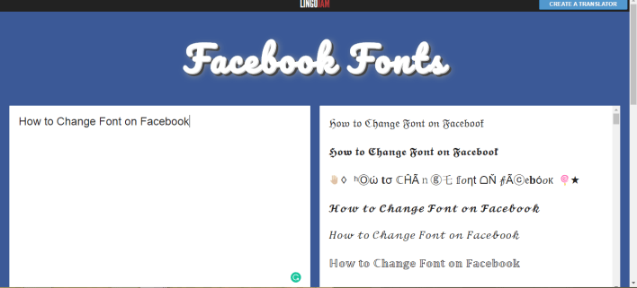 Change Font on Facebook
