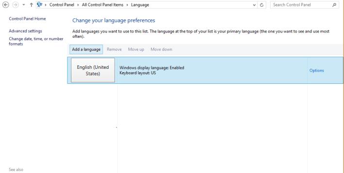 Change Keyboard Language on Windows 8