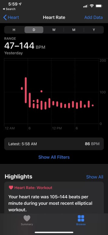 Heart Rate History