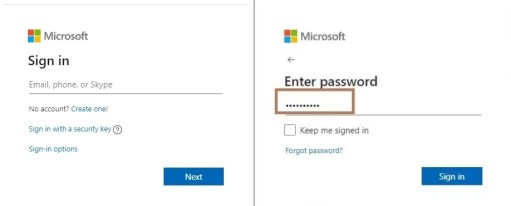 Sign in window of Outlook - Change Profile Picture on Outlook