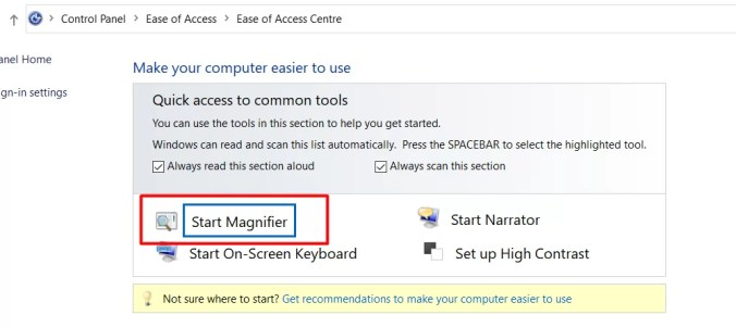 Start magnifier - How To Invert Color On Windows