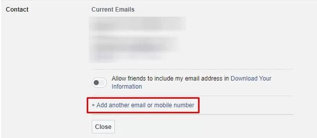 Add another email