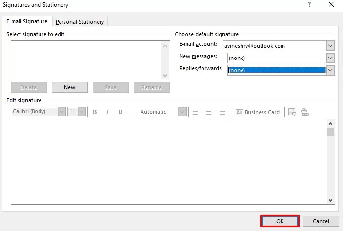 ok - How To Change Signature On Outlook