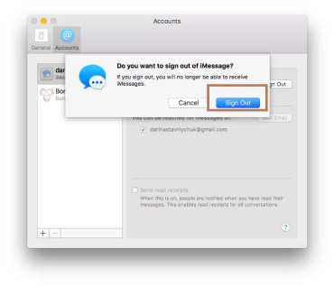 Signout of Imessages in MAC