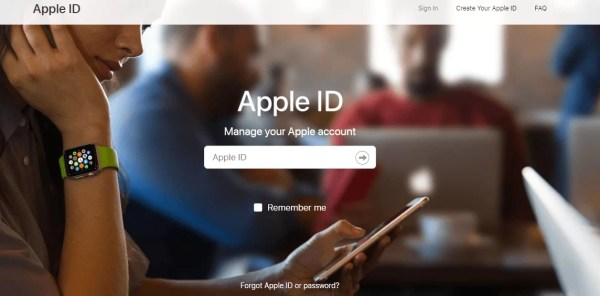 Sign into Apple ID