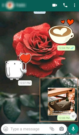 Share stickers