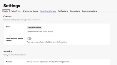 Twitch Settings - How to Delete Twitch Acount