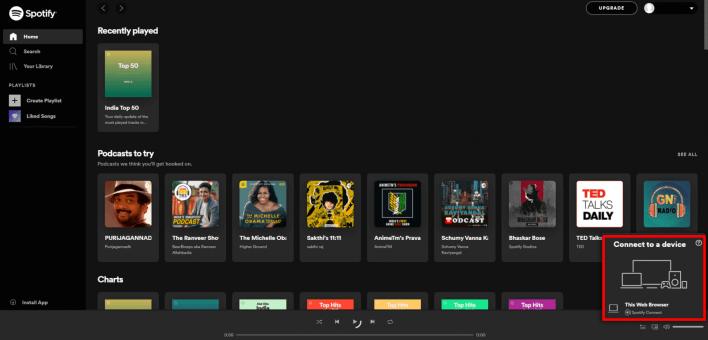 Spotify in Chromecast