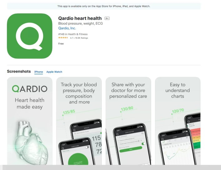 Download Qardio Heart Health app