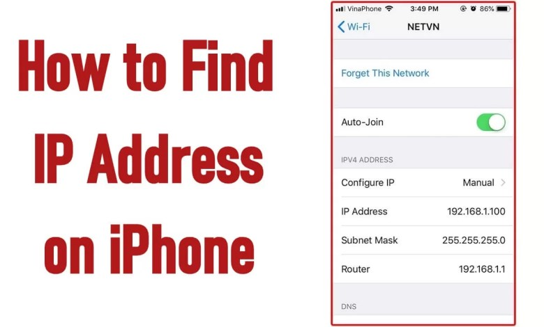 How to Find IP address on iPhone