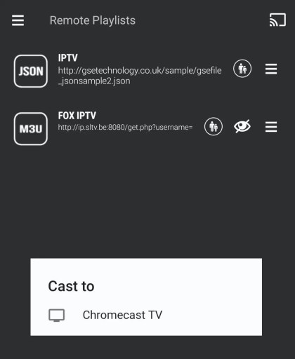 Chromecast GSE Smart IPTV App