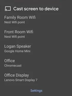 Chromecast Discovery Plus from Smartphone