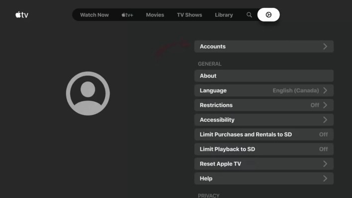 Apple TV app on Google TV