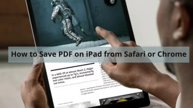 How to Save PDF on iPad from Safari or Chrome