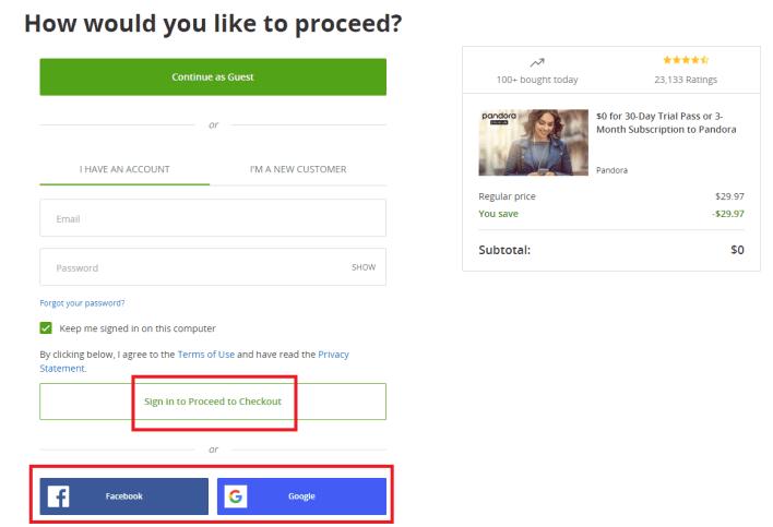 login to groupon - How to get Pandora Premium for Free
