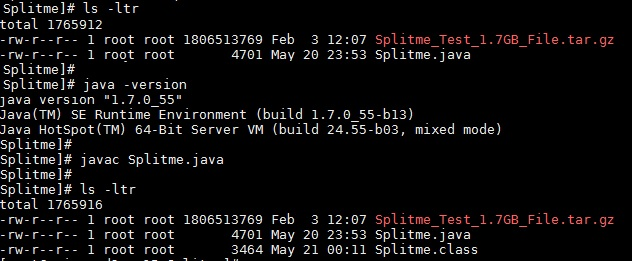 Java Split File