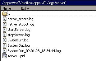 Websphere server1 logs location