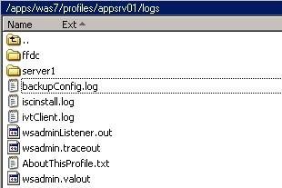 Websphere logs location