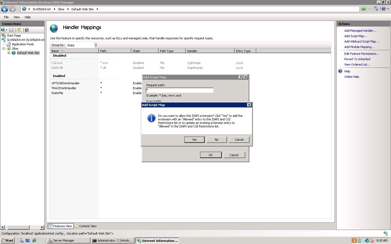 IIS 7 Handler Mappings Add Script Path