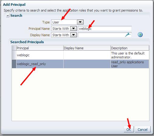 SOAMonitor Edit Application Role