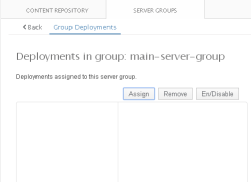 Wildfly Deployments in group